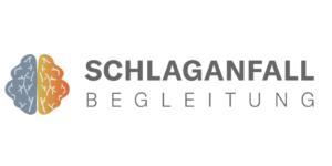 Das Logo der Schlaganfallbegleitung.de mit Schriftzug und abgebildetem Gehirn
